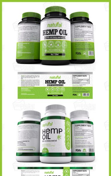 Hemp Oil Supplement Label