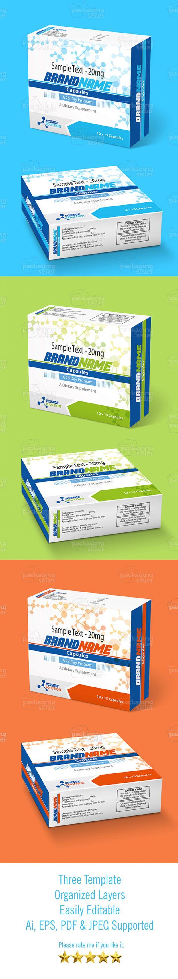 Medicine Box Template
