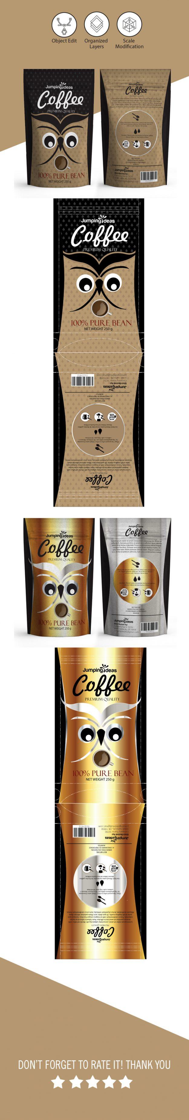 coffee bag template packaging seller. Black Bedroom Furniture Sets. Home Design Ideas