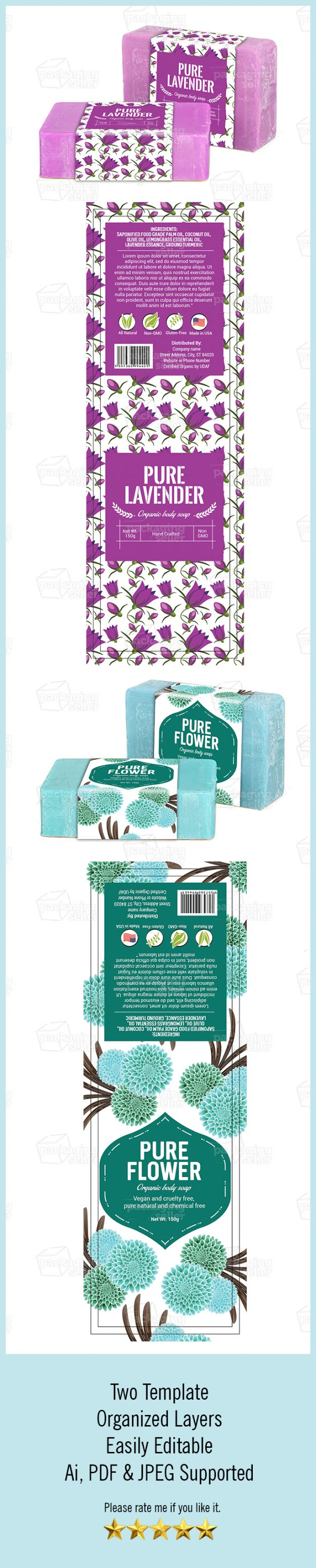 Handmade Soap Packaging Template Vol-146- Graphic Services