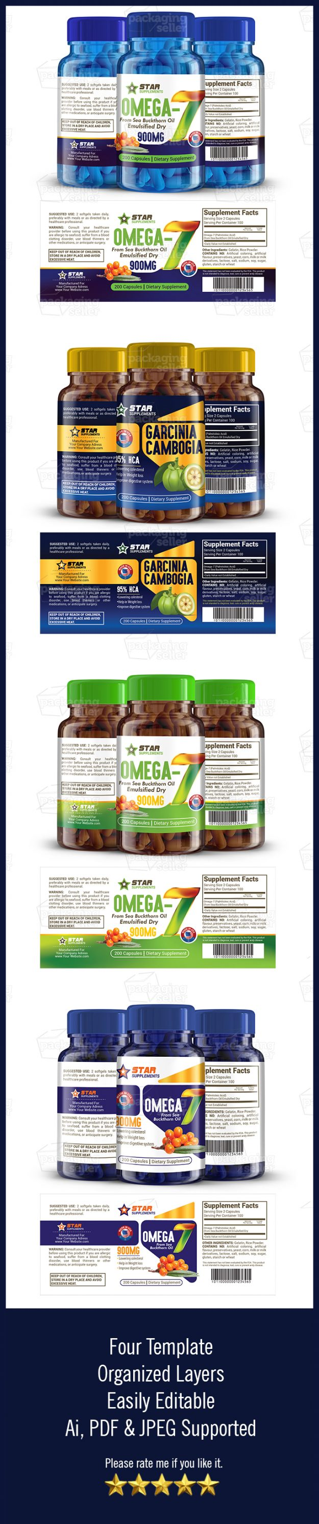 Supplement Label Template Vol-148-Packaging